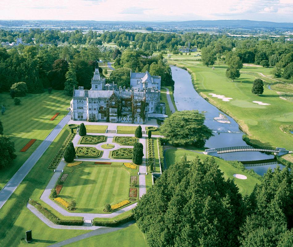 Aerial view of the Irish estate